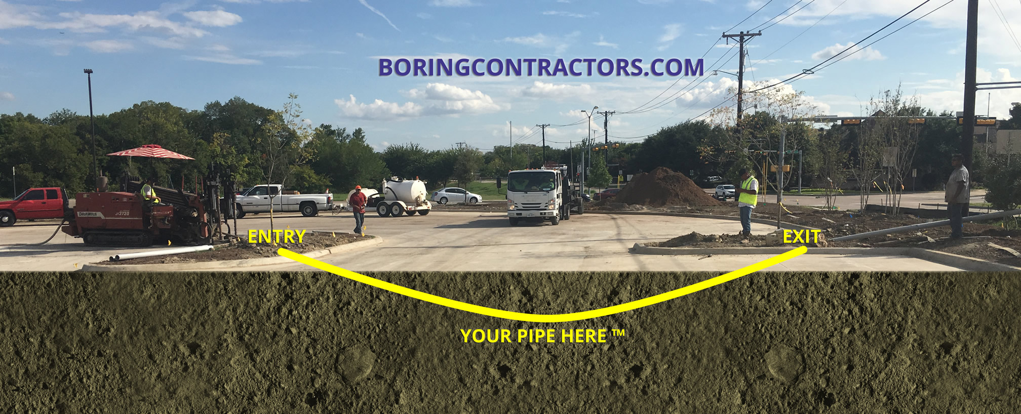 Boring Contractors, LLC | Boring Your Pipe Here