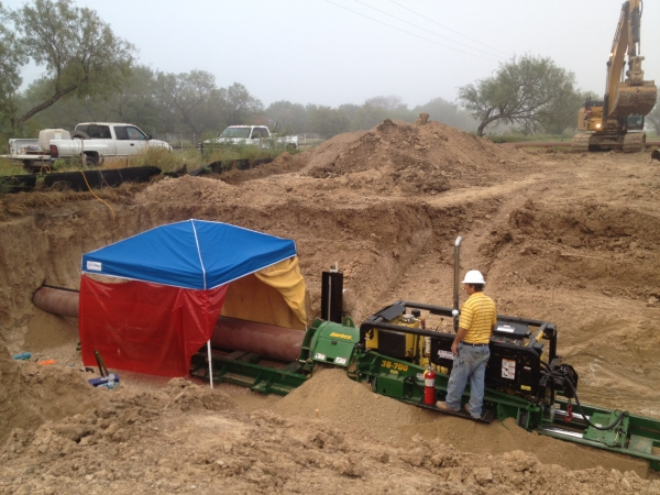Railroad Auger Bore Denton County, TX